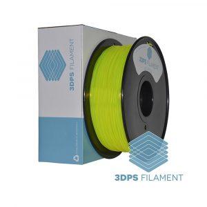 3DPS Translucent Fluorescent Yellow PLA 1.75mm 3D Printer filament 1