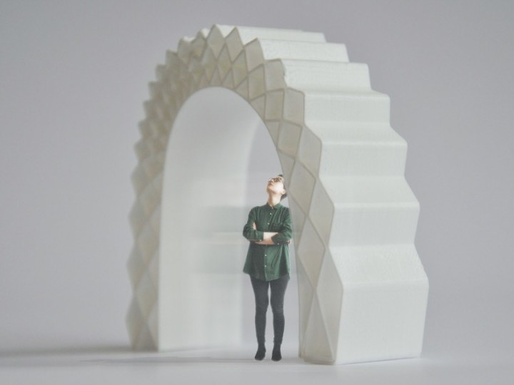 A 3D printed house rises in Amsterdam
