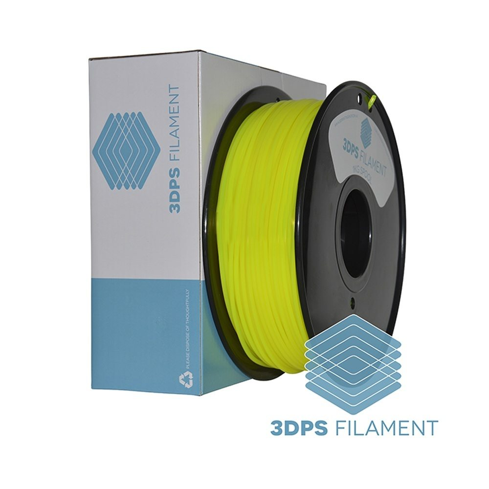NEW 3DPS Translucent Yellow PLA 3.0mm 3D Printer Filament